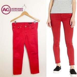 AG Adriano Goldschmted The Stilt Red Jeans 29R